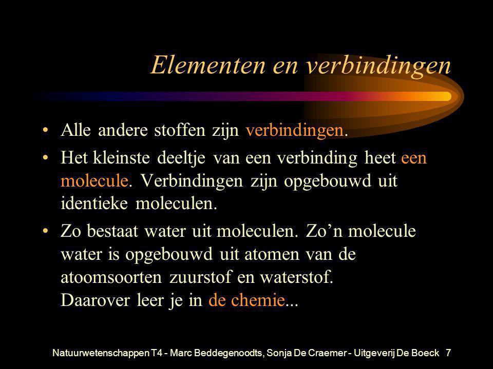 Natuurwetenschappen T4 - Marc Beddegenoodts, Sonja De Craemer - Uitgeverij De Boeck8 Het elektron doet zijn intrede •Rond de jaren 1880 ontdekt men dat het atoom deelbaar is en kleine, elektrisch negatief geladen deeltjes bevat.