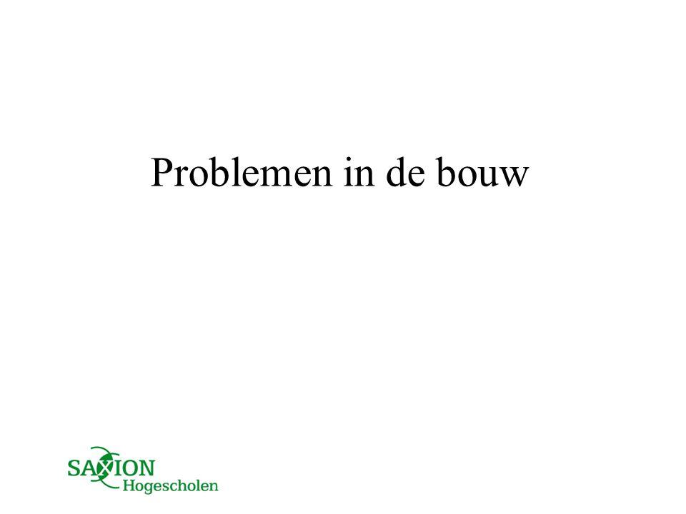 Problemen in de bouw