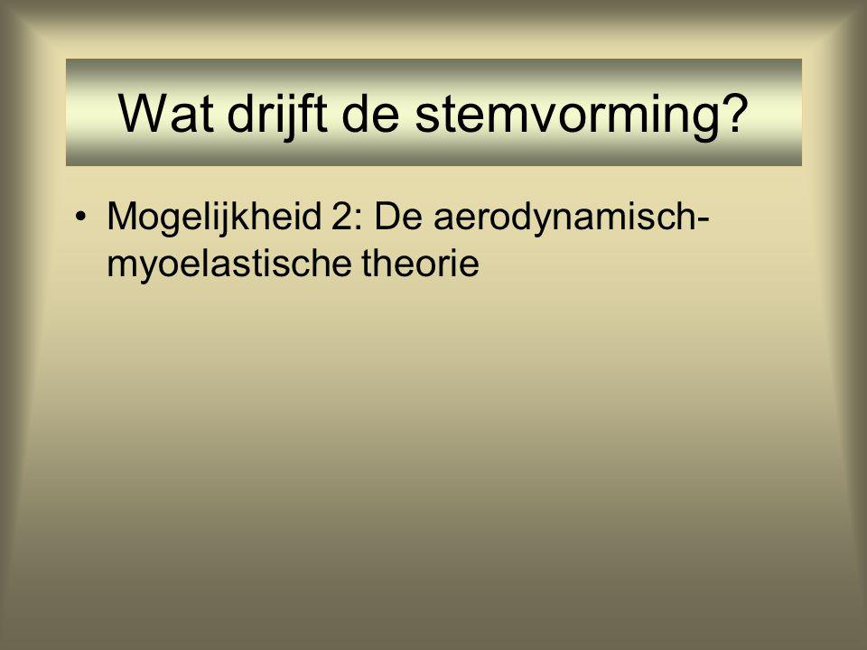 •Waarom is de glottale cyclus niet het gevolg van directe aansturing d.m.v. zenuwimpulsen? –Hoge frequenties zenuwimpulsen zouden dan bereikt moeten w