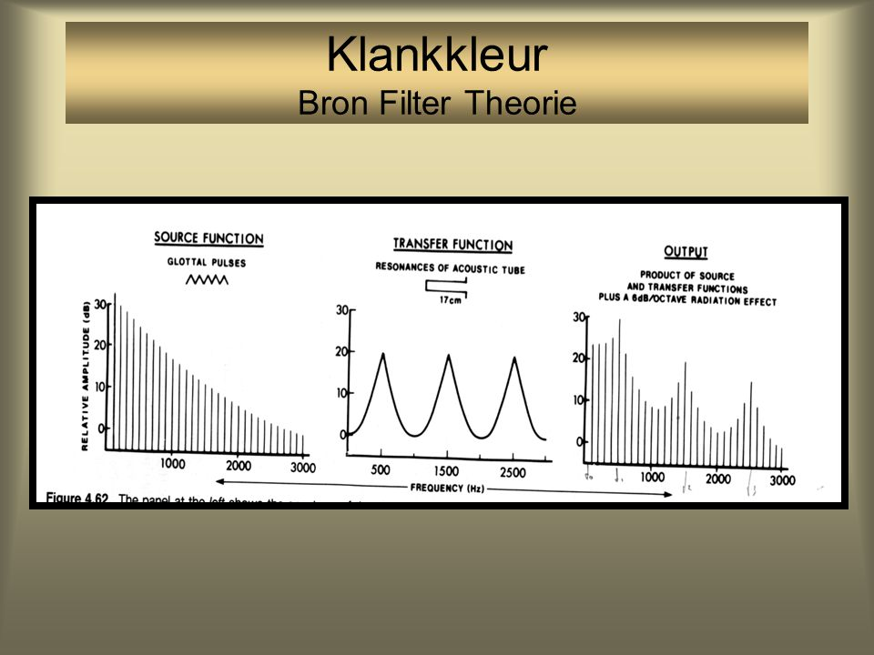 Functie van drie systemen: het bron-filter model Bron - Filter