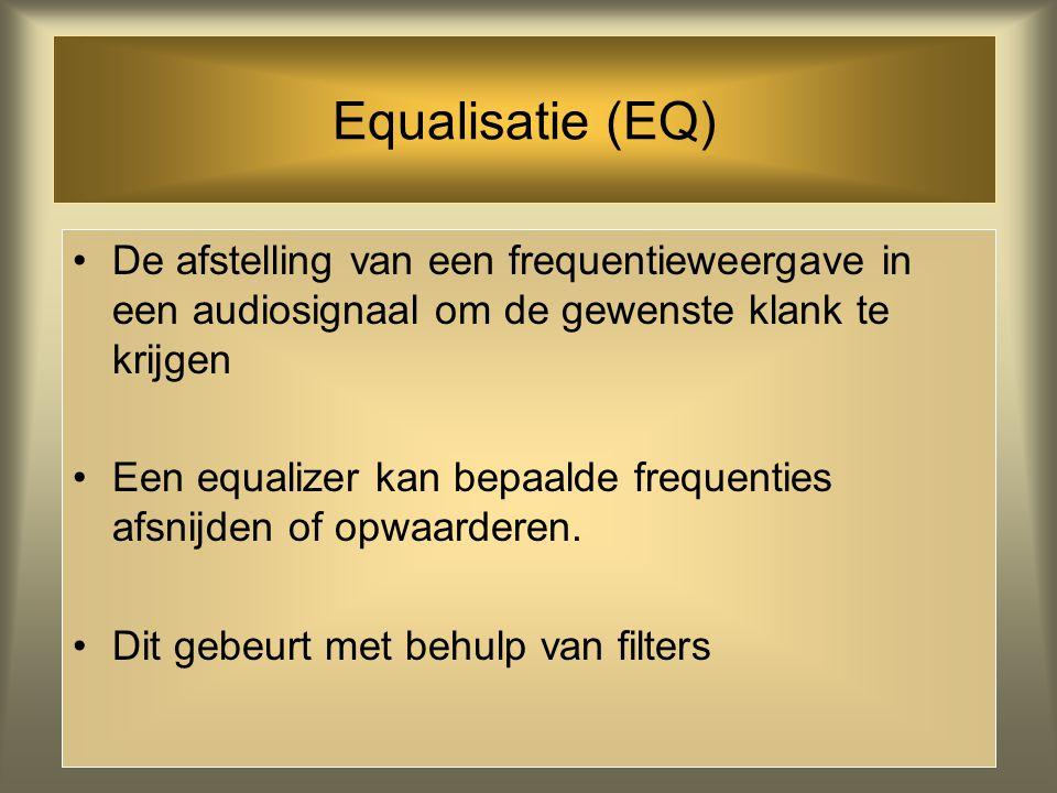 Geluid bewerken: Equalisatie