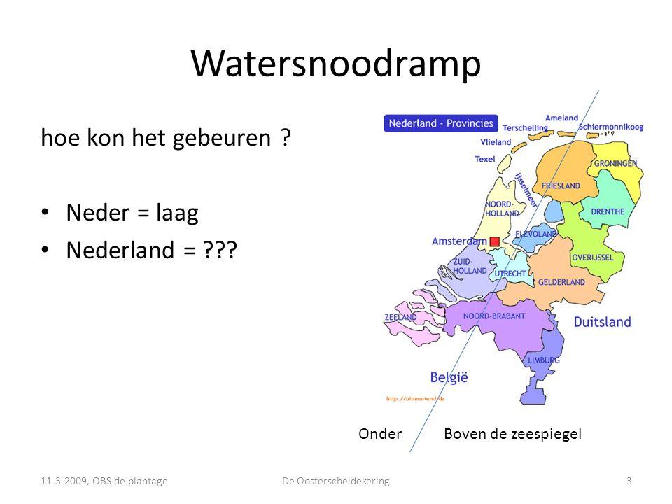Watersnoodramp hoe kon het gebeuren .• Neder = laag • Nederland = ??.
