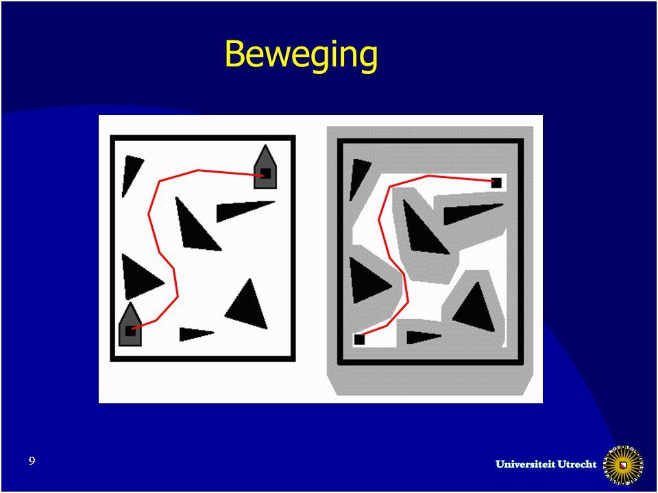 10 Motion Planning •Motion planning is dus in feit het vinden van een (kort) pad in the vrije ruimte.