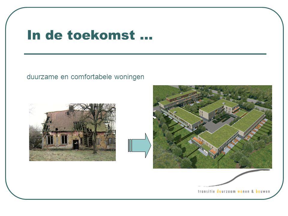 In de toekomst … duurzame en comfortabele woningen
