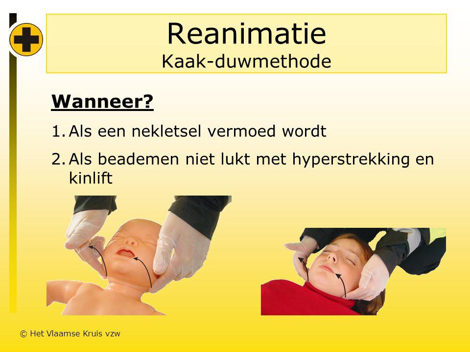 Reanimatie Kaak-duwmethode Wanneer.