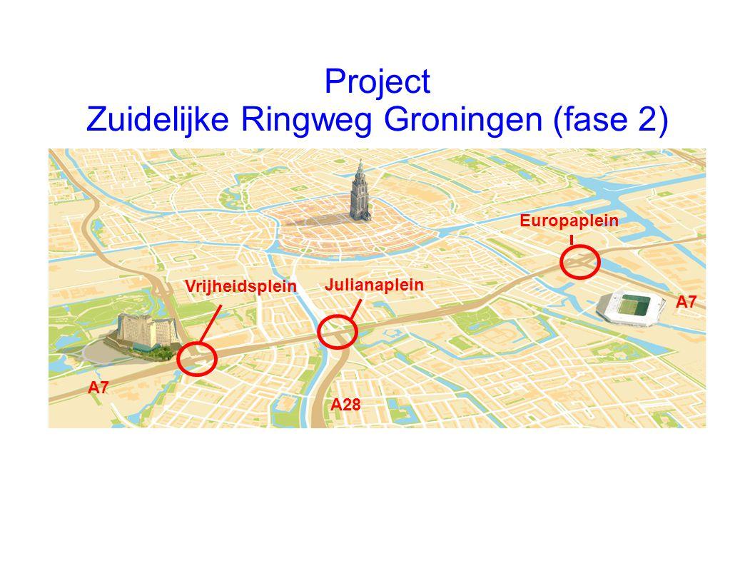 Project Zuidelijke Ringweg Groningen (fase 2) Vrijheidsplein Julianaplein Europaplein A7 A28