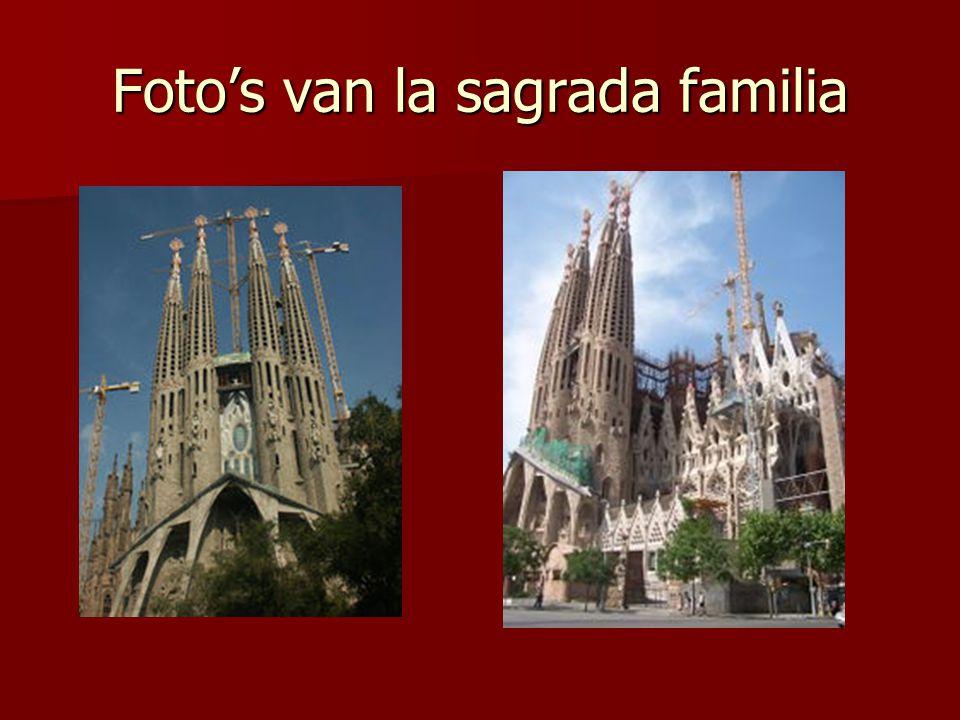 Foto's van la sagrada familia