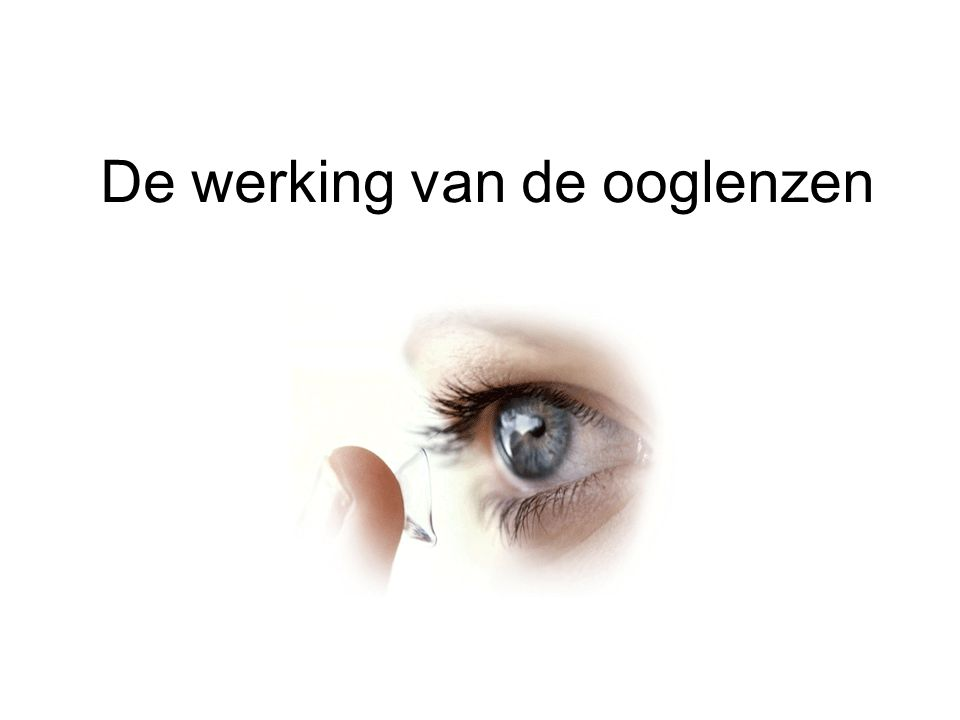 De werking van de ooglenzen