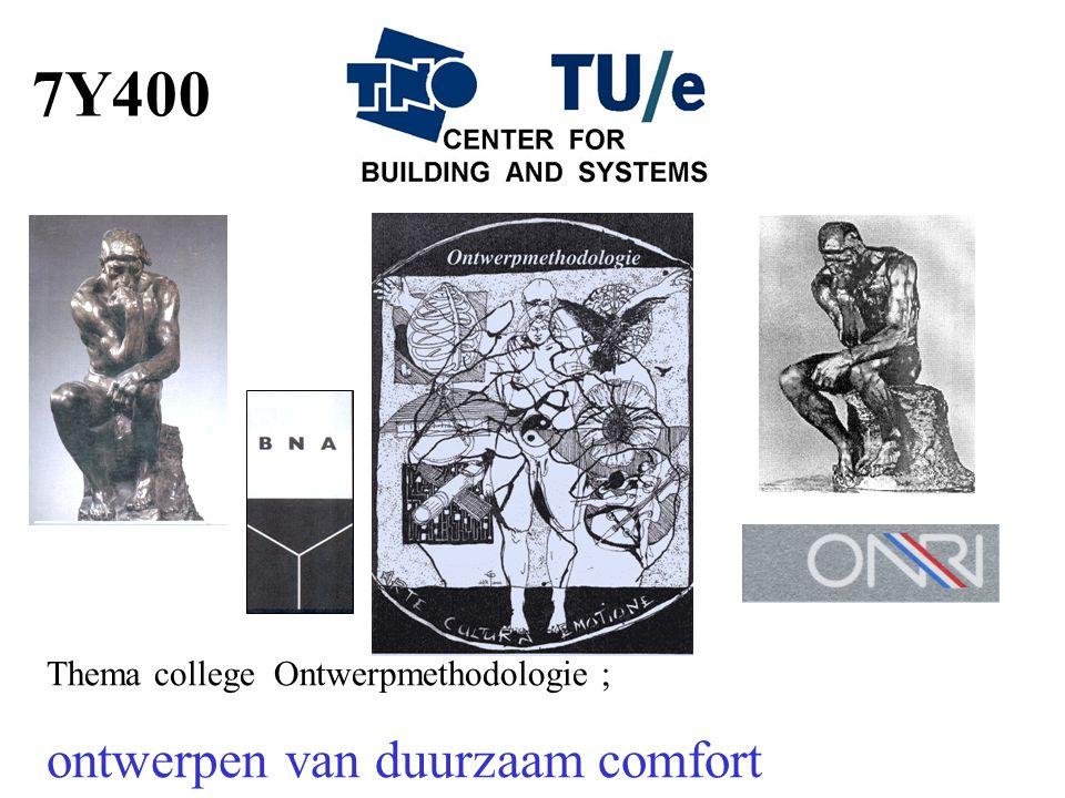 Thema college Ontwerpmethodologie ; ontwerpen van duurzaam comfort 7Y400