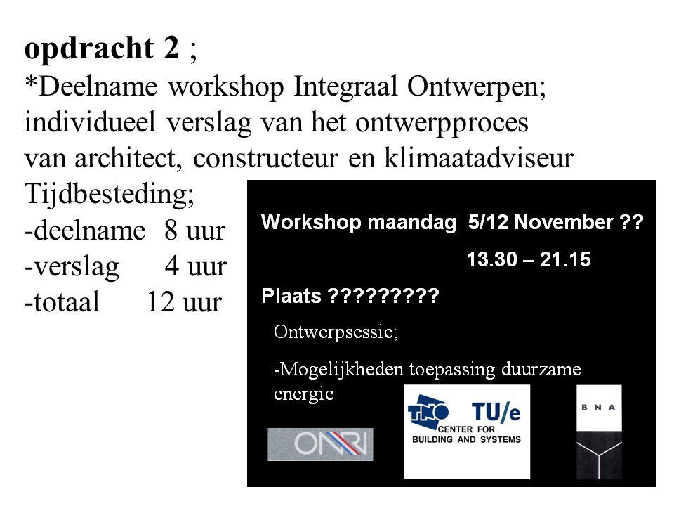 opdracht 2 ; *Deelname workshop Integraal Ontwerpen; individueel verslag van het ontwerpproces van architect, constructeur en klimaatadviseur Tijdbest
