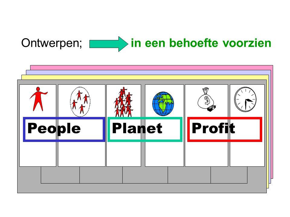 Ontwerpen; in een behoefte voorzien PeoplePlanetProfit