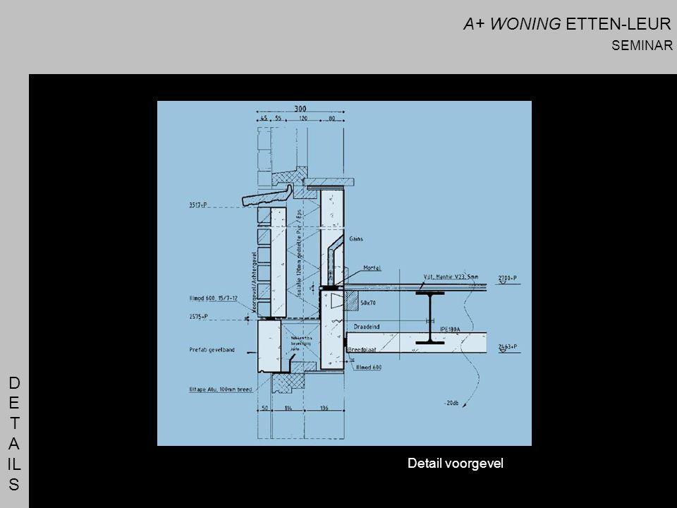A+ WONING ETTEN-LEUR SEMINAR D E T A IL S Detail voorgevel