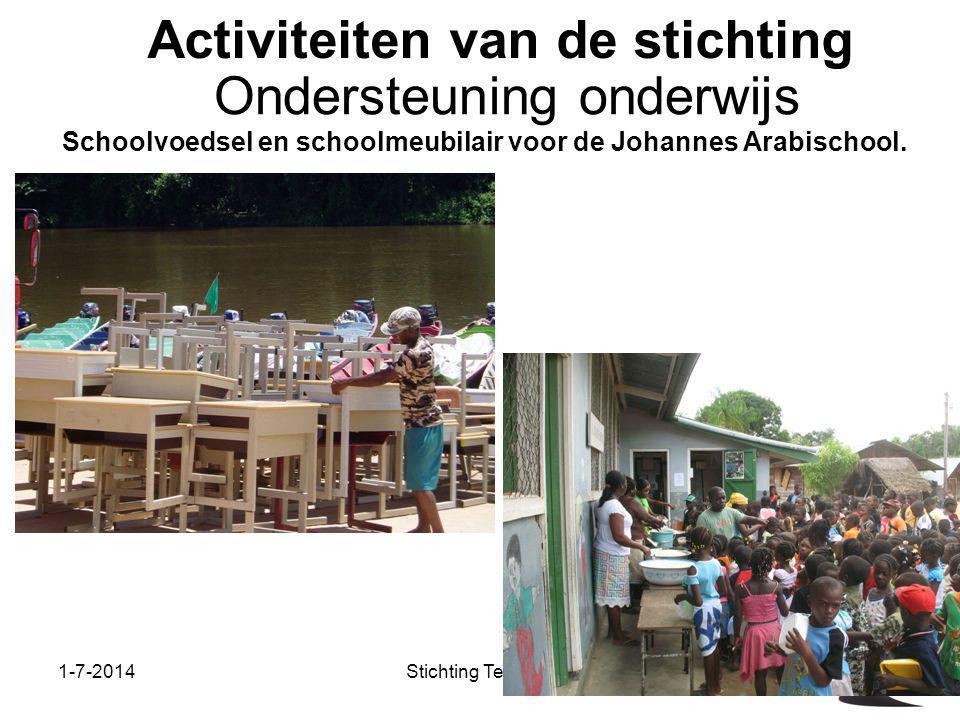 1-7-2014Stichting Teeifuka Activiteiten van de stichting Schoolvoedsel en schoolmeubilair voor de Johannes Arabischool. Ondersteuning onderwijs