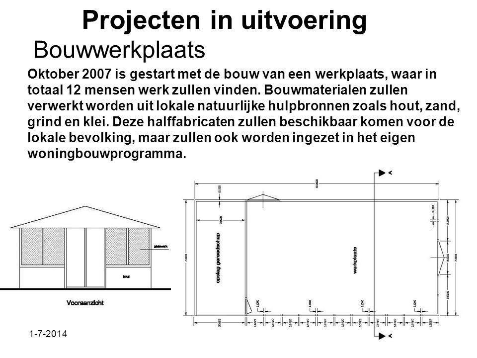1-7-2014Stichting Teeifuka Projecten in uitvoering Oktober 2007 is gestart met de bouw van een werkplaats, waar in totaal 12 mensen werk zullen vinden.