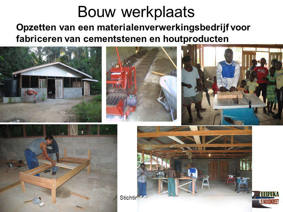 1-7-2014Stichting Teeifuka Opzetten van een materialenverwerkingsbedrijf voor fabriceren van cementstenen en houtproducten Bouw werkplaats