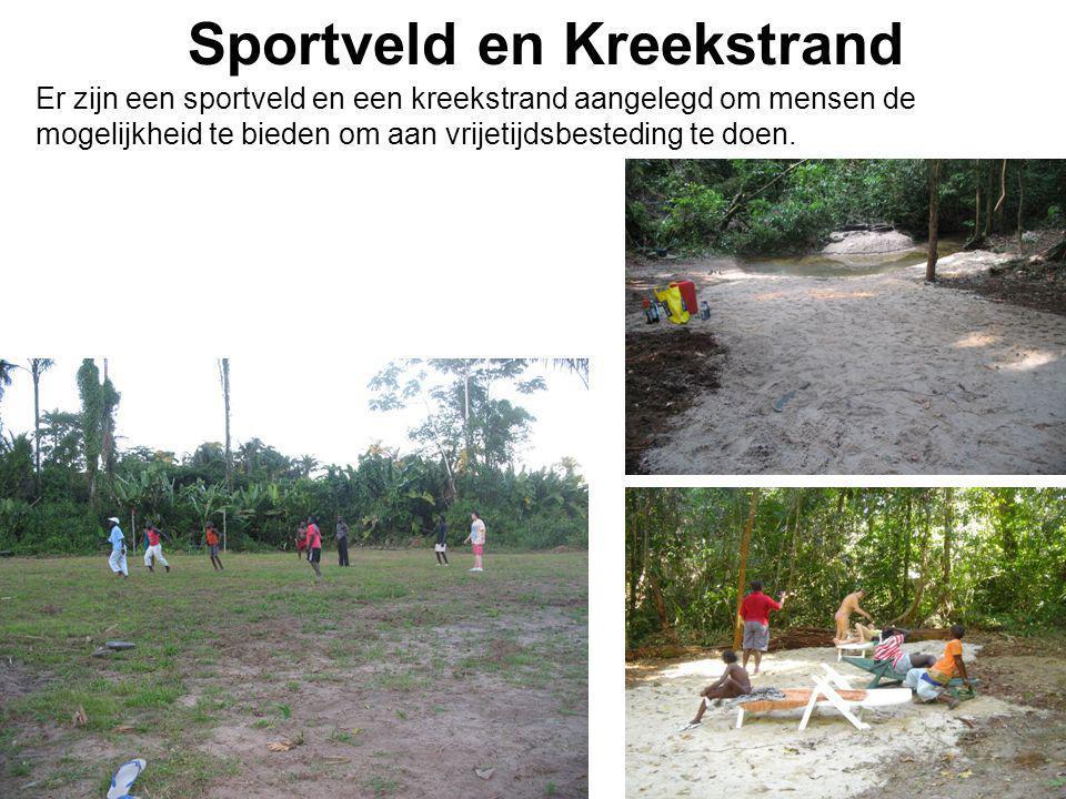 1-7-2014 Sportveld en Kreekstrand Er zijn een sportveld en een kreekstrand aangelegd om mensen de mogelijkheid te bieden om aan vrijetijdsbesteding te
