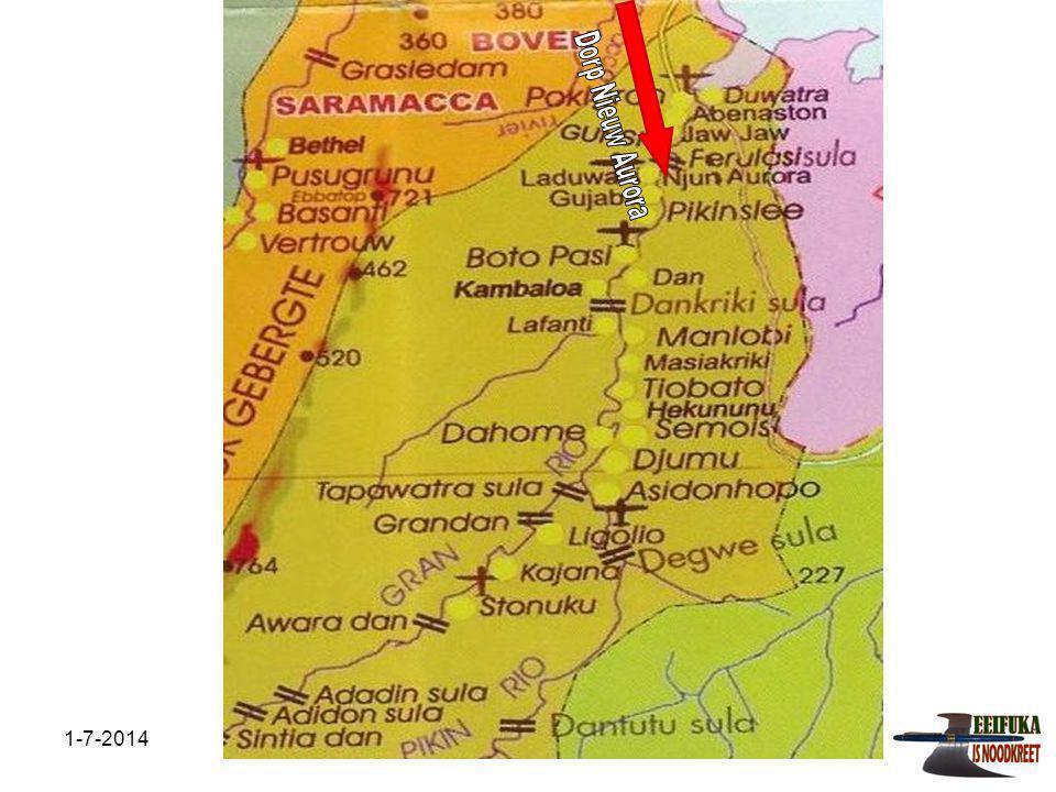 1-7-2014Stichting Teeifuka Projecten in uitvoering Om ontvolking van het achterland tegen te gaan en het leven in dat deel van het land aantrekkelijk te maken is in 2007 gestart met het bouwen van hutten met materialen die verwerkt zullen worden.