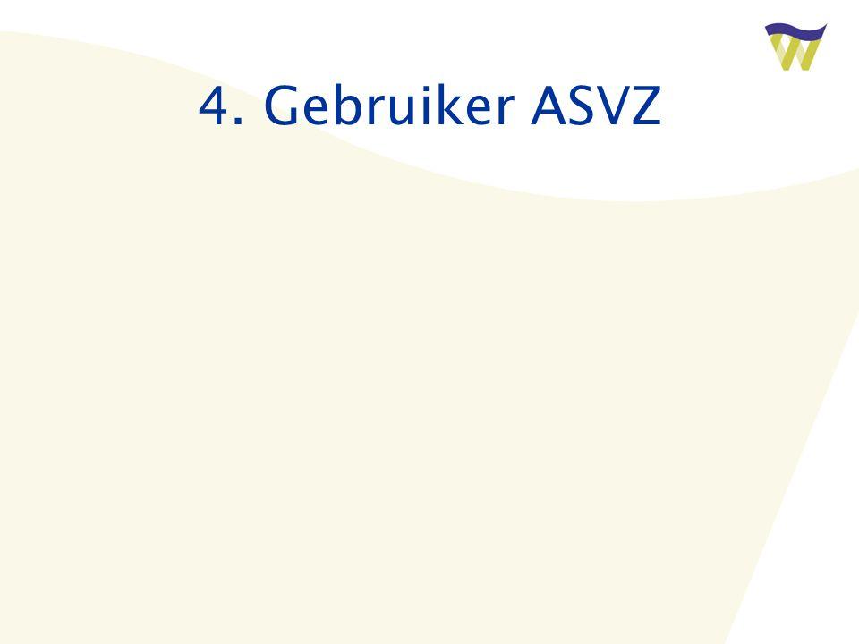 4. Gebruiker ASVZ