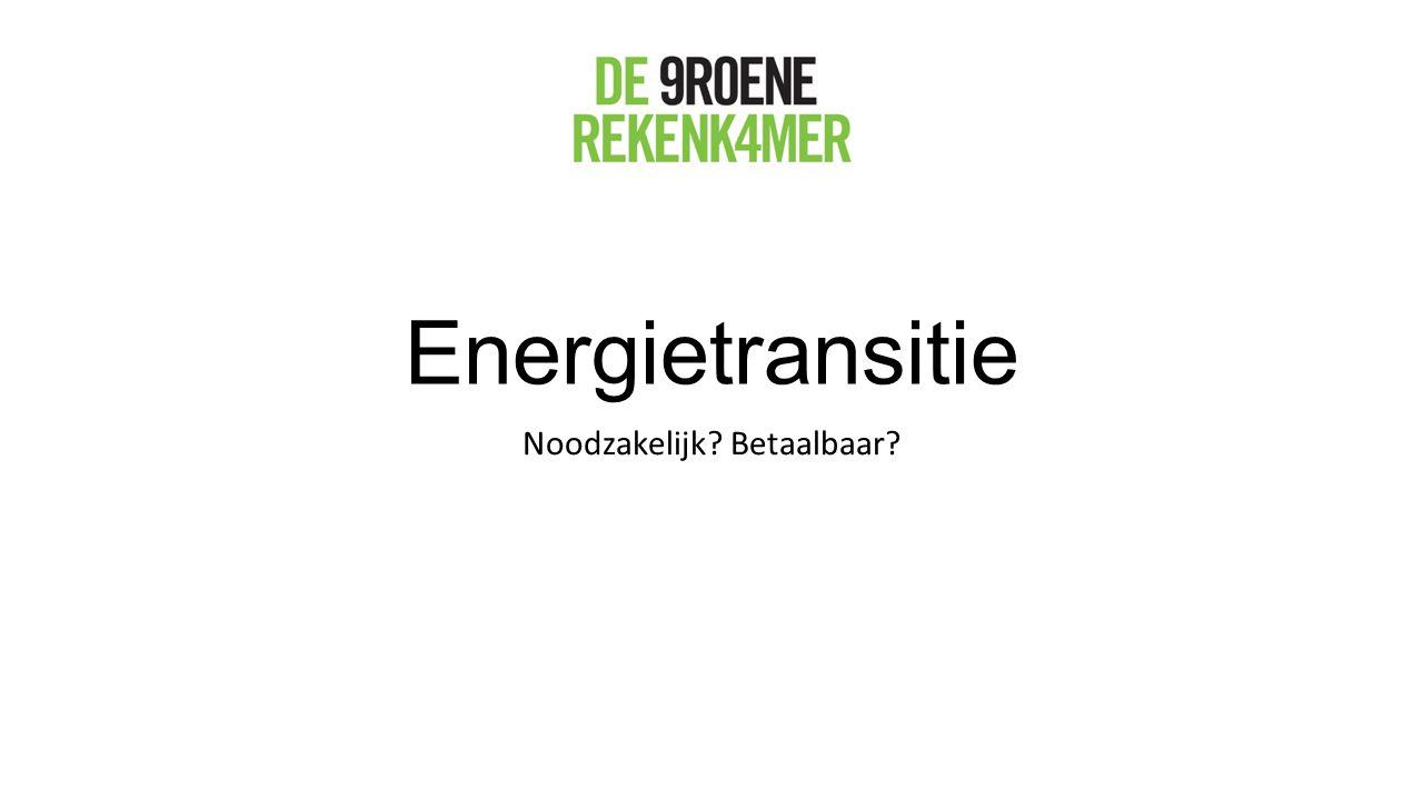 Energietransitie Noodzakelijk? Betaalbaar?