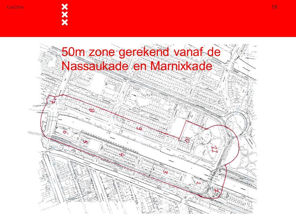 50m zone gerekend vanaf de Nassaukade en Marnixkade 1 juli 2014 19