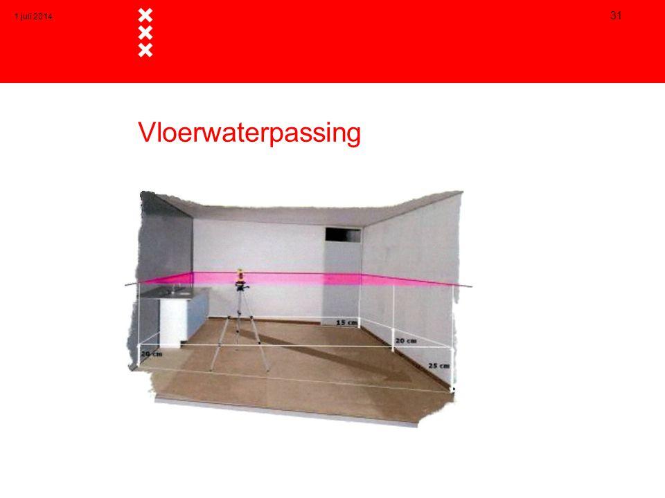 Vloerwaterpassing 1 juli 2014 31
