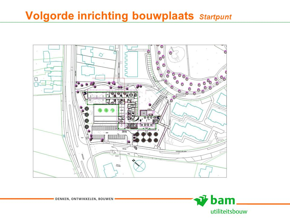 27-01-2011 Koninklijke BAM Groep nv - - 10 Volgorde inrichting bouwplaats Startpunt