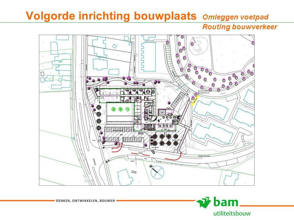 27-01-2011 Koninklijke BAM Groep nv - - 11 Volgorde inrichting bouwplaats Omleggen voetpad Routing bouwverkeer