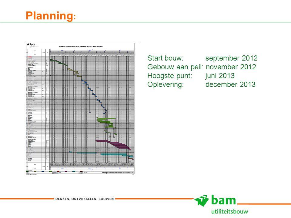 27-01-2011 Koninklijke BAM Groep nv - - 15 Planning : Start bouw: september 2012 Gebouw aan peil: november 2012 Hoogste punt: juni 2013 Oplevering: de