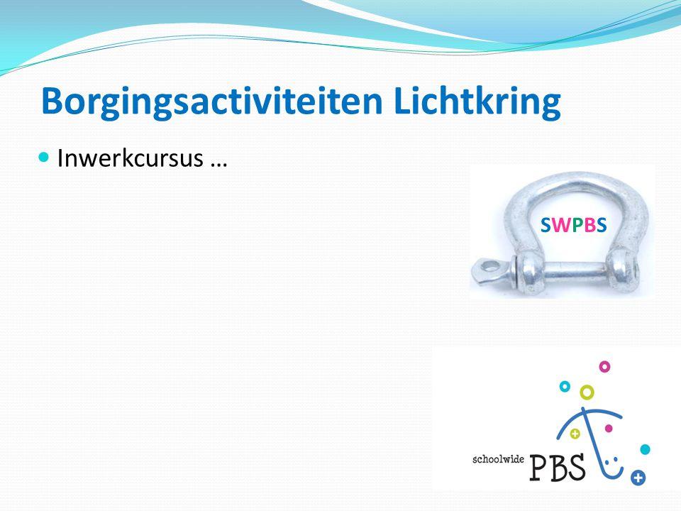 Borgingsactiviteiten Lichtkring SWPBSSWPBS  Inwerkcursus …