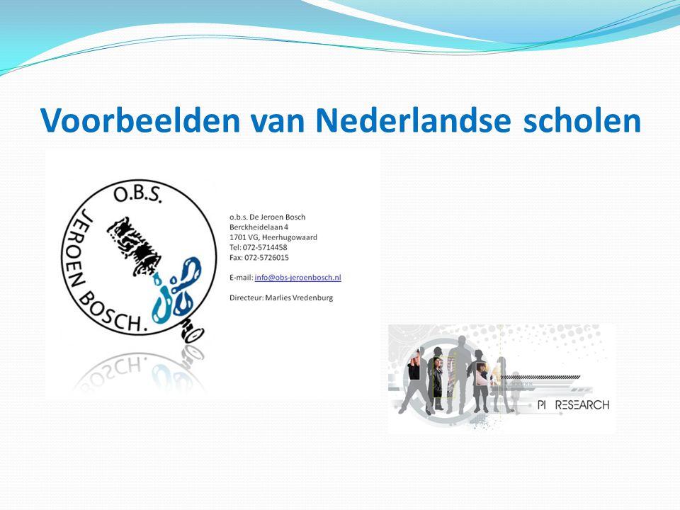 Voorbeelden van Nederlandse scholen