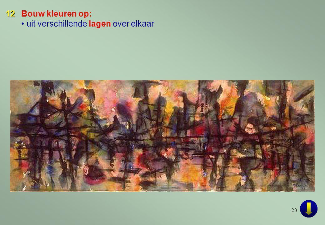23 12 12Bouw kleuren op: • uit verschillende lagen over elkaar