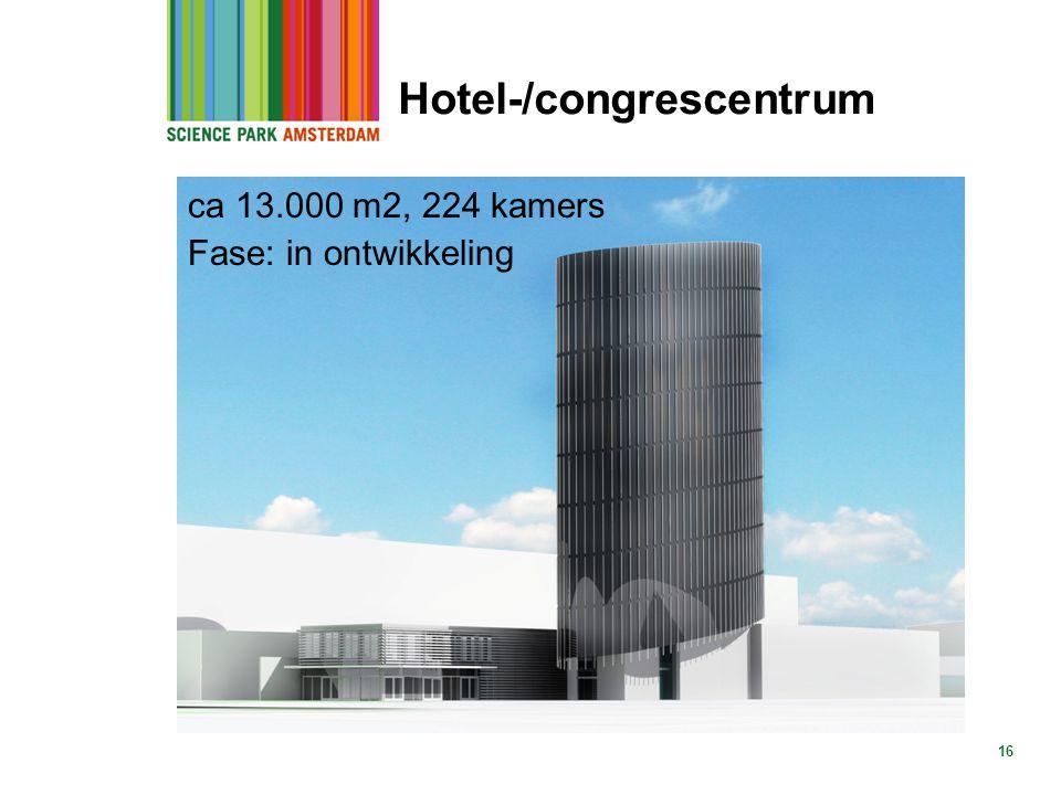 16 Hotel-/congrescentrum ca 13.000 m2, 224 kamers Fase: in ontwikkeling