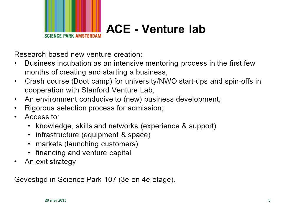 ACE - Venture lab 28 mei 20136