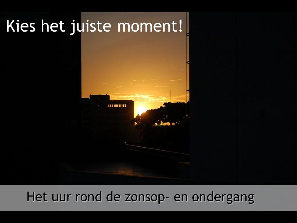 Kies het juiste moment! Het uur rond de zonsop- en ondergang