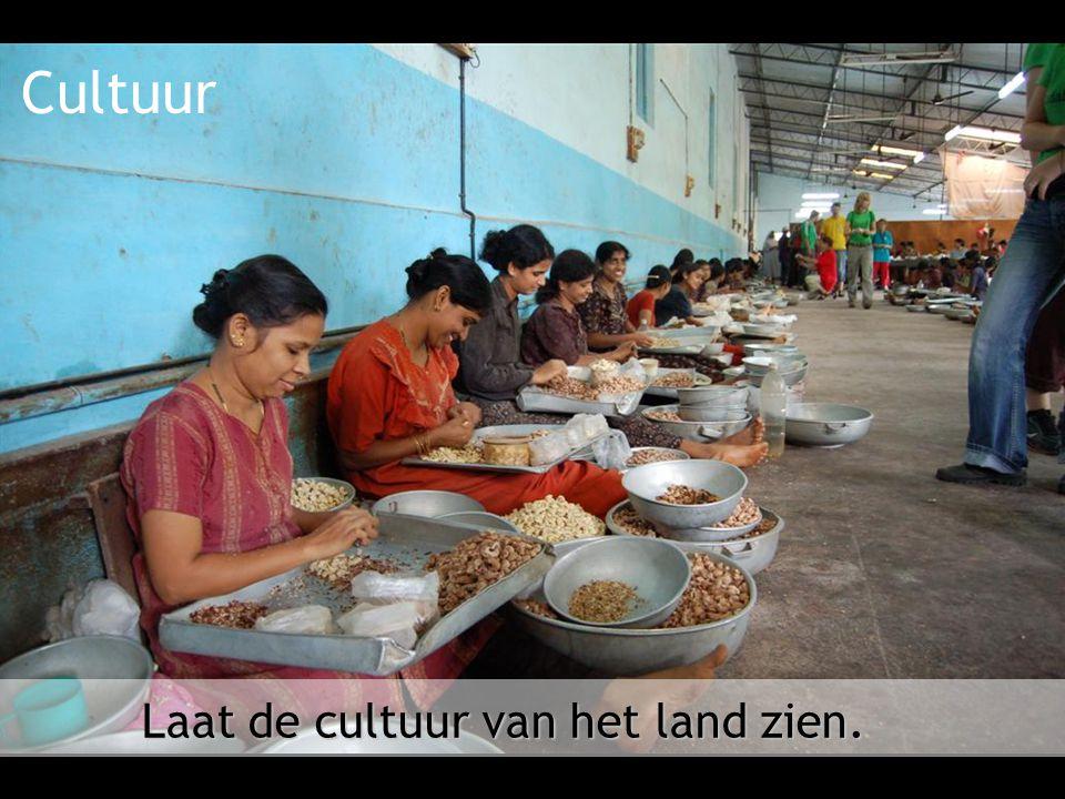 Cultuur Laat de cultuur van het land zien.