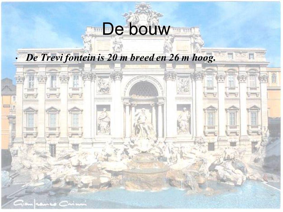 Geschiedenis • De oude trevi fontein is gebouwd in 1453 voor Paus nicolaas 5. • onder bevel van paus Urbanus 8 e werd begonnen met het restaureren. •