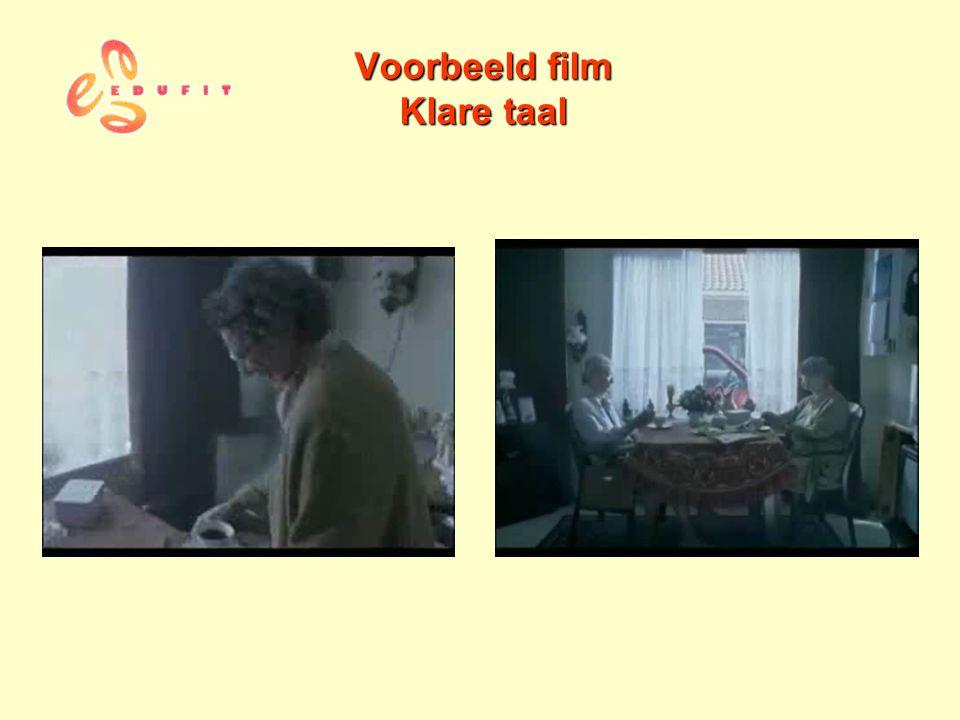 Voorbeeld film Klare taal