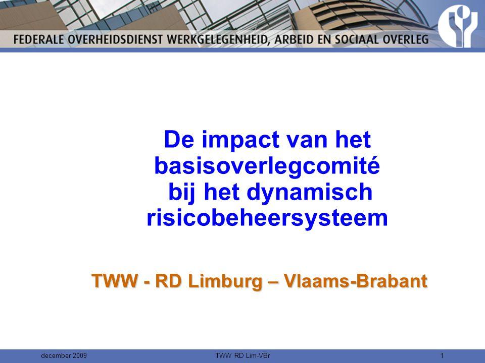 december 2009TWW RD Lim-VBr31 Interactieve training •Aan de hand van beschrijvingen van een concrete werksituatie met concrete gegevens i.v.m.