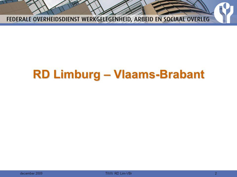 december 2009TWW RD Lim-VBr1 TWW - RD Limburg – Vlaams-Brabant De impact van het basisoverlegcomité bij het dynamisch risicobeheersysteem