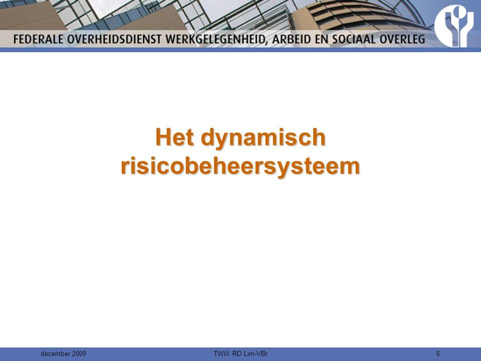 december 2009TWW RD Lim-VBr6 Het dynamisch risicobeheersysteem