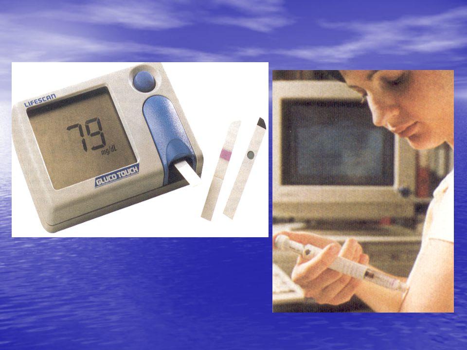 Type 1:insuline-afhankelijk Type 2 :insuline-onafhankelijk falen eilandjes van Langerhans meestal reeds op jonge leeftijd insulineresistentie ouderdomsdiabetes o v e r g e w i c h t