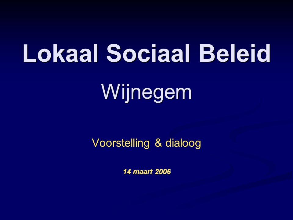 Lokaal Sociaal Beleid Wijnegem Voorstelling & dialoog 14 maart 2006