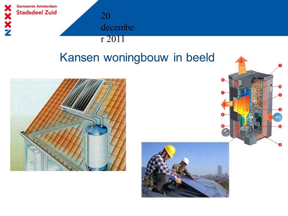 20 decembe r 2011 Kansen woningbouw in beeld