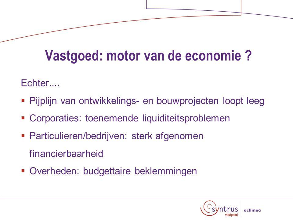 Vastgoed: motor van de economie . Echter....