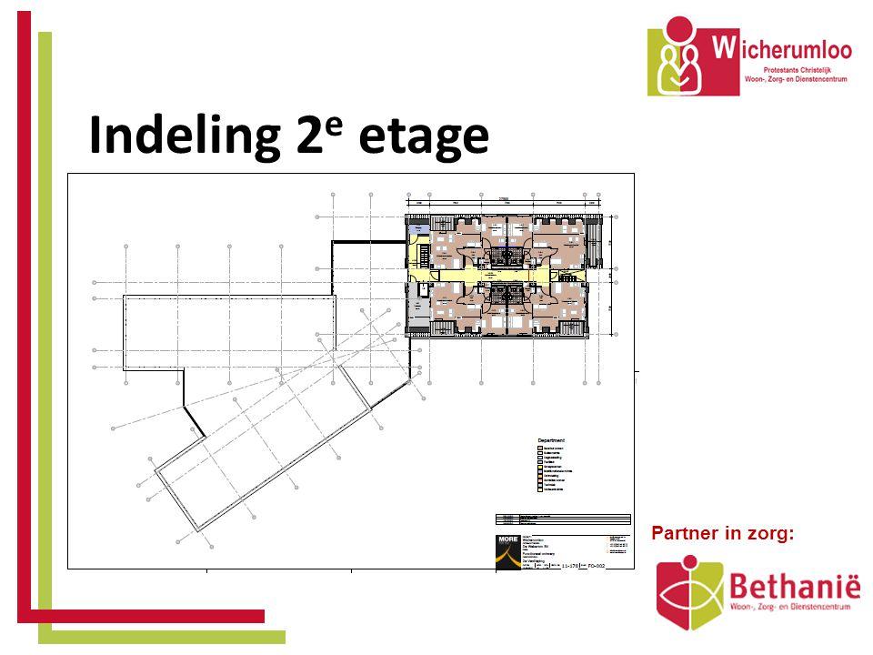 Indeling 2 e etage • Partner in zorg: