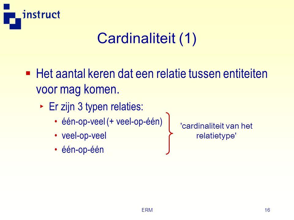 ERM15 Tekstuele beschrijving Entiteittype Klas Student Identifier Afdeling Klasnummer Studentnummer Description Afdeling Klasnummer Aantal studenten S