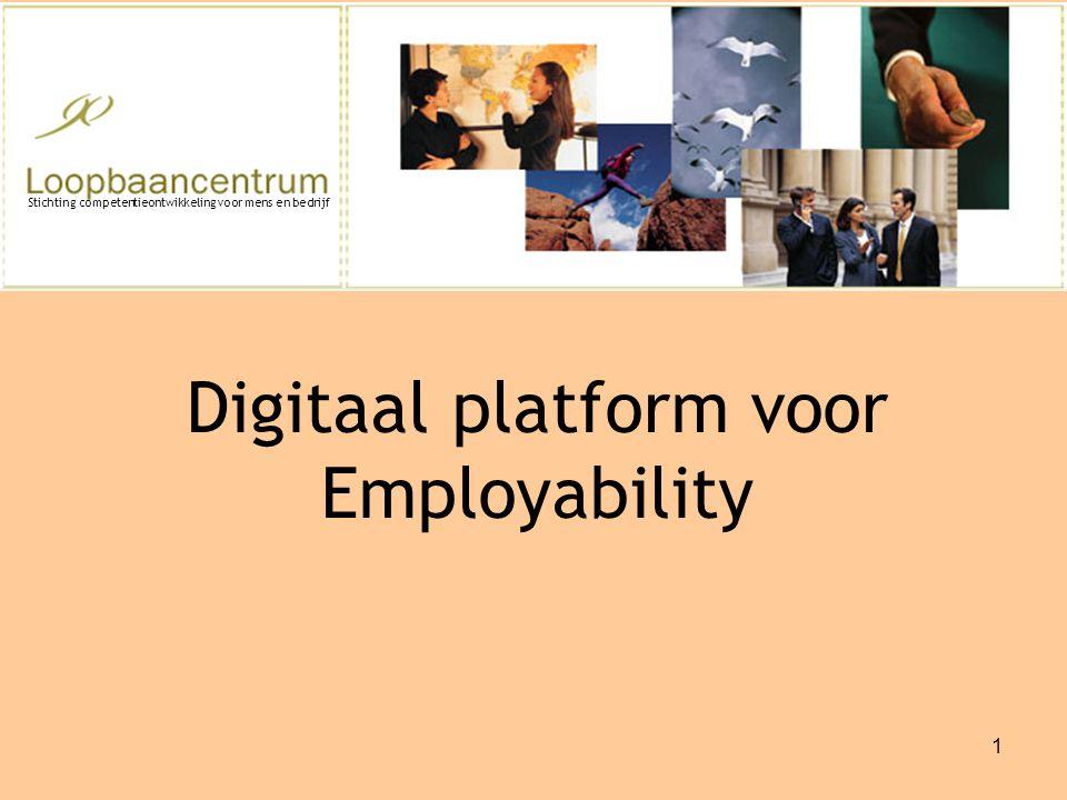 1 Digitaal platform voor Employability Stichting competentieontwikkeling voor mens en bedrijf