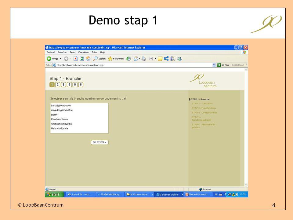 4 Demo stap 1 © LoopBaanCentrum