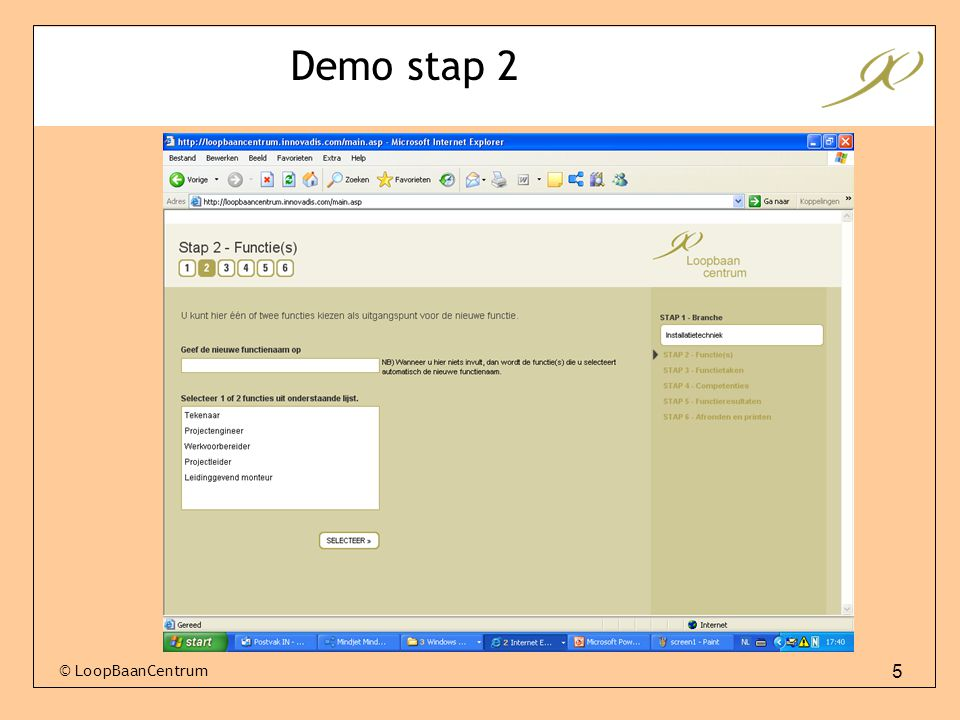 5 Demo stap 2