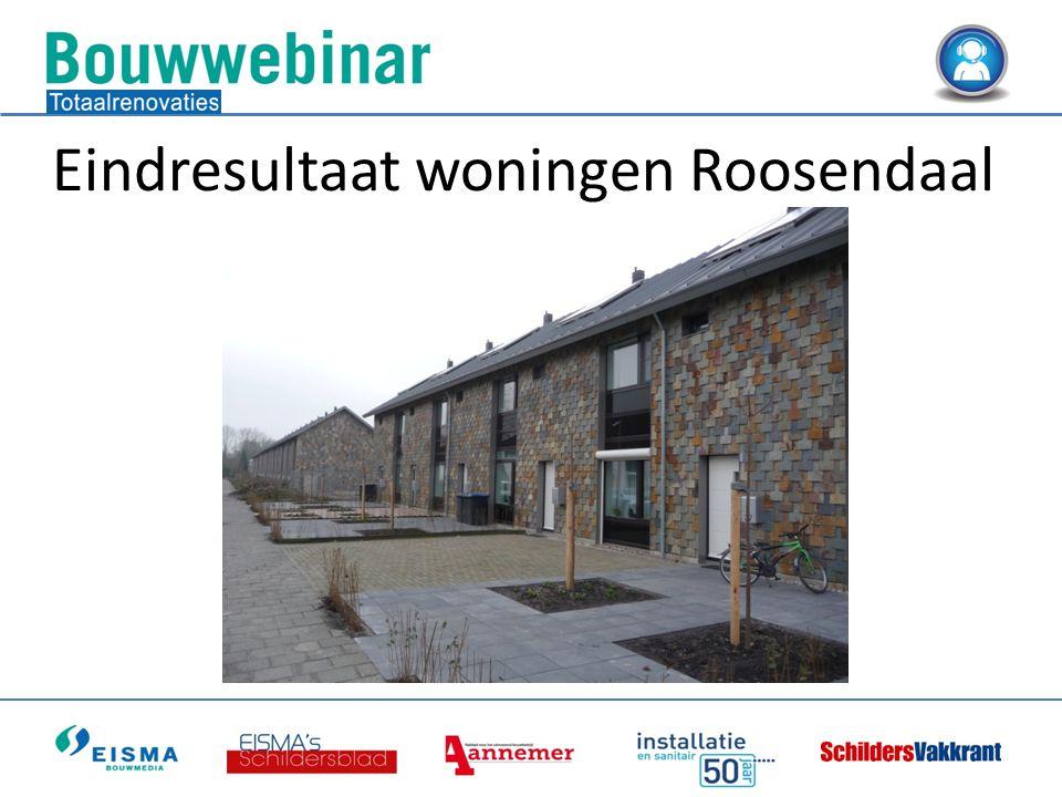 Eindresultaat woningen Roosendaal